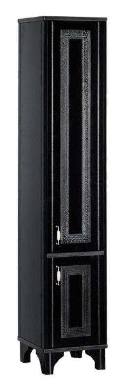 Пенал Aquanet Валенса 40 черный краколет/серебро (180300)