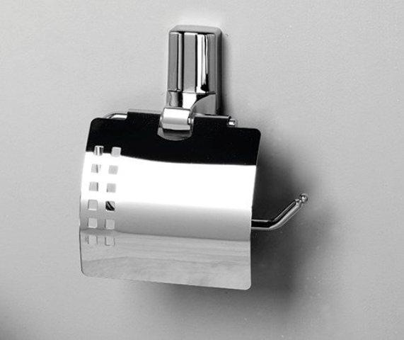 Держатель туалетной бумаги WasserKRAFT Leine K-5025 с крышкой металл, хромоникелевое покрытие, фото
