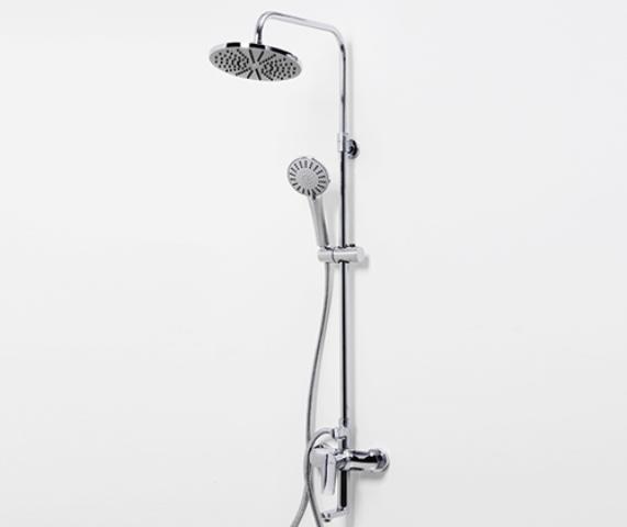 Фото - Душевая стойка WasserKRAFT A16601 со смесителем для ванны, 85/115 x 53,5 см латунь, хромоникелевое покрытие