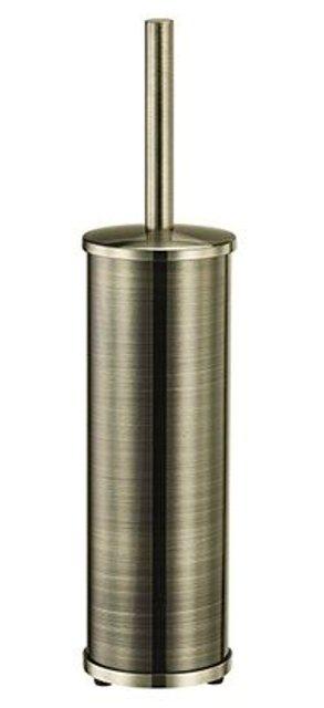 Щетка для унитаза WasserKRAFT K-1017 напольная металл, покрытие светлая бронза, фото
