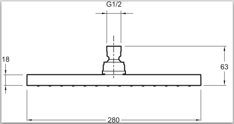Фото - Душ верхний Jacob Delafon EO E3875-CP квадратной формы 11 л/м /28х28/ (хром)