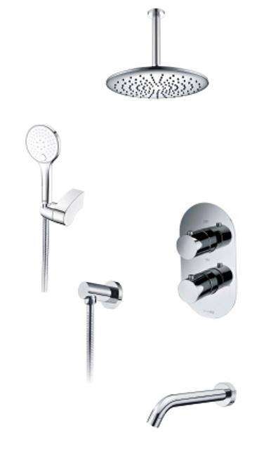 Фото - Встраиваемый комплект WasserKRAFT А174868 Thermo для ванны с верхней душевой насадкой, лейкой и изливом
