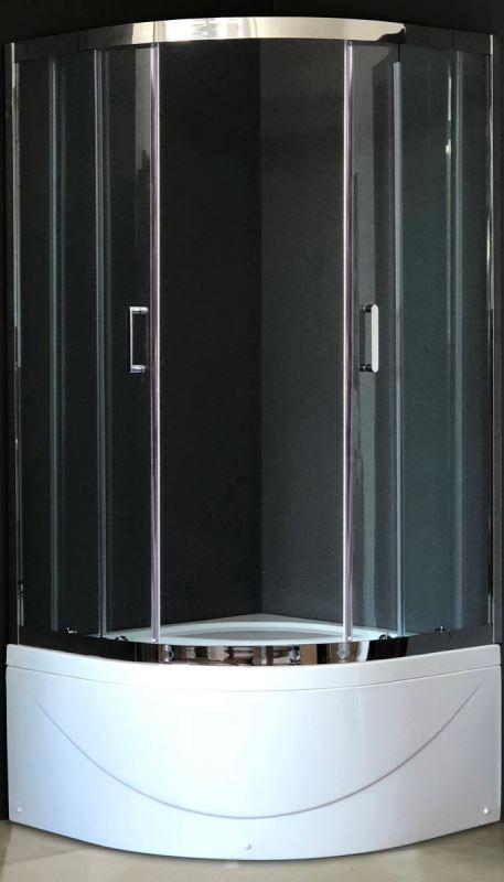 Фото - Душевой уголок Royal Bath RB 90BK-T-CH 900x900x2000 (прозрачное)