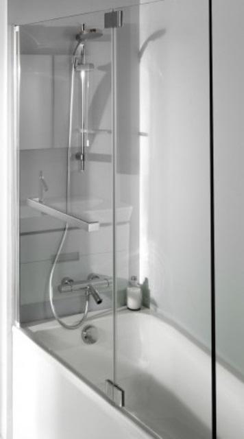 Фото - Шторка Jacob Delafon E4931-GA для ванны BAIN-DOUCHE, ADEQUATION (хром)