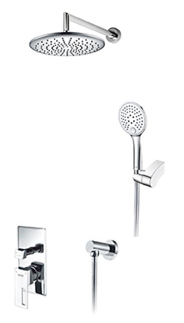 Фото - Встраиваемый комплект WasserKRAFT A14130 для душа с верхней душевой насадкой и лейкой латунь