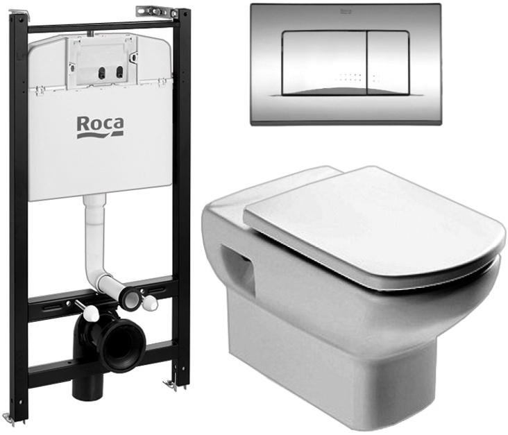 Фото - Инсталляция комплект Roca DAMA SENSO 893104090 (унитаз+инст+кноп+сид м/л)