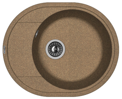 Фото - Кухонная мойка FLORENTINA Родос 580, коричневый FG (20.240.B0580.105)