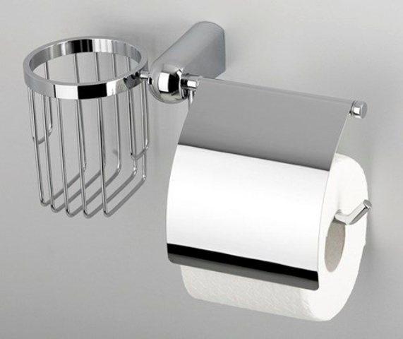 Держатель туалетной бумаги WasserKRAFT Berkel K-6859 и освежителя металл, хромоникелевое покрытие, фото