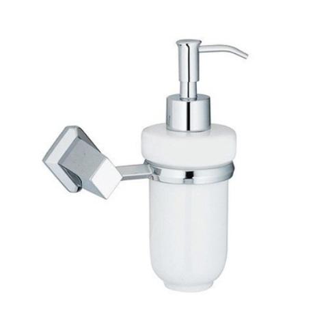 Дозатор для жидкого мыла WasserKRAFT Aller K-1199C, 160 ml металл, хромоникелевое покрытие, керамика, фото