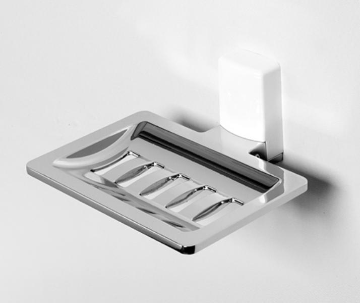 Мыльница WasserKRAFT Leine K-5069 White решетка металл, хромоникелевое покрытие, ABS - пластик, фото