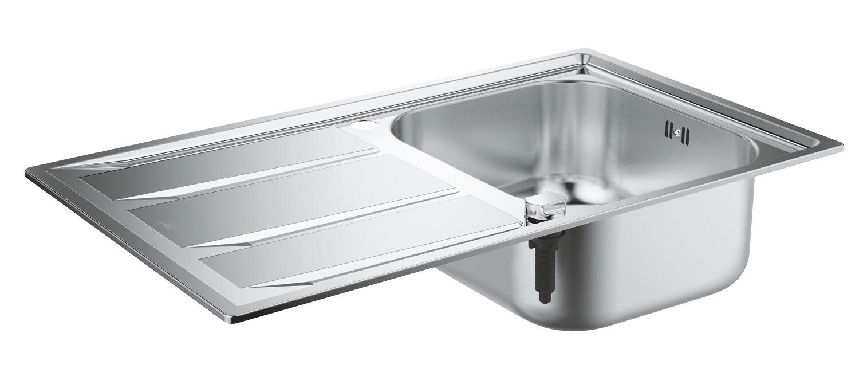 Фото - Кухонная мойка Grohe K400 31566SD0 45 -S 86/50 1.0 из нержавеющей стали с корзинчатым вентилем, оборачиваемая