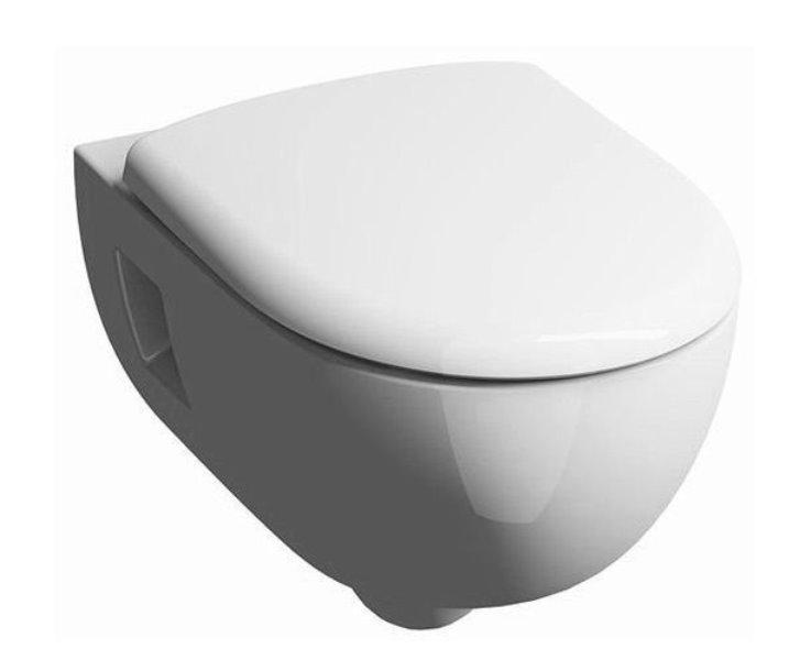 Фото - Унитаз подвесной Geberit 203070000 RENOVA N1 PREMIUM, безободковый /35х53/ (белый)