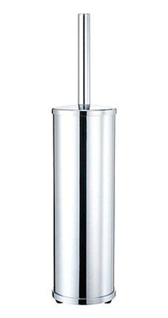 Щетка для унитаза WasserKRAFT K-1027 напольная металл, хромоникелевое покрытие, фото