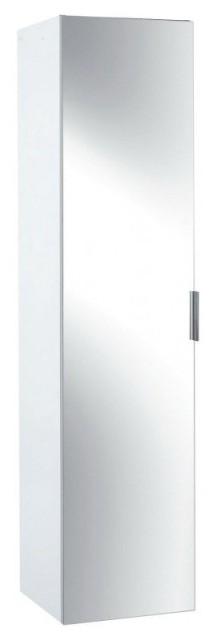 Фото - Пенал Jacob Delafon ODEON UP EB873-N18 с реверсивной зеркальной дверцей, три полки /35х34x147/ (блестящий белый ламинат)