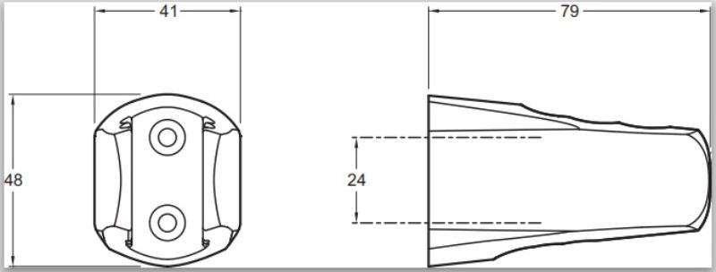 Фото - Держатель Jacob Delafon E75075-CP ABS настенный трёхпозиционный (хром)