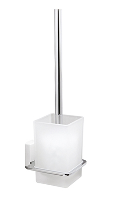 Фото - Щетка для унитаза WasserKRAFT Leine K-5027 White подвесная металл, хромоникелевое покрытие, матовое стекло, ABS - пластик