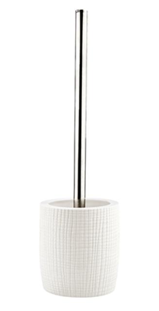 Щетка для унитаза WasserKRAFT Dinkel K-4627 металл, хромоникелевое покрытие, фарфор, фото
