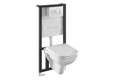Фото - Унитаз с инсталляцией Vitra S20 9004B003-7204 9742-5800-01 кнопкой 740-0580 и сид. микролифт)