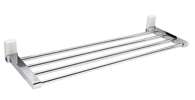 Полка для полотенец WasserKRAFT Leine K-5011 White металл, хромоникелевое покрытие, ABS - пластик, фото