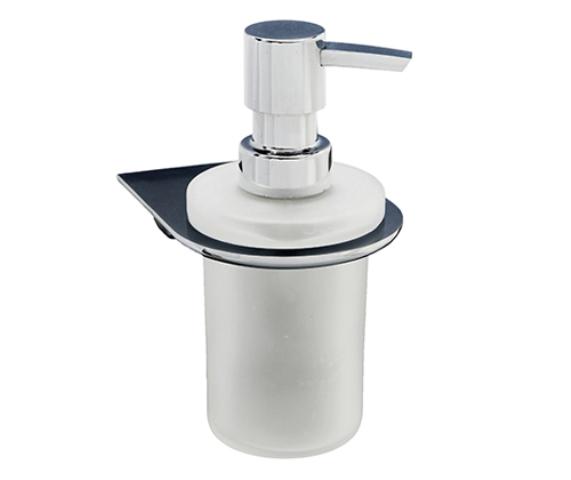 Фото - Дозатор для жидкого мыла WasserKRAFT Kammel K-8399 стеклянный, 170 ml металл, хромоникелевое покрытие, матовое стекло