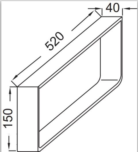 Полотенцедержатель Jacob Delafon PARALLEL EB507-BME /52х15х4/ (хром), фото