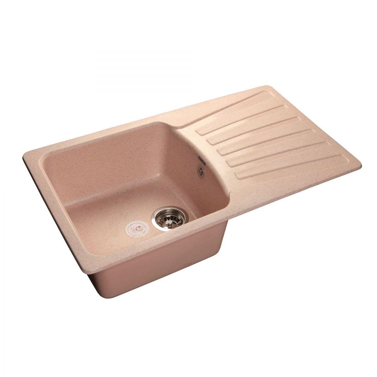 Фото - Кухонная мойка GranFest STANDART GF-S850L чаша+крыло 850*495мм светло-розовый