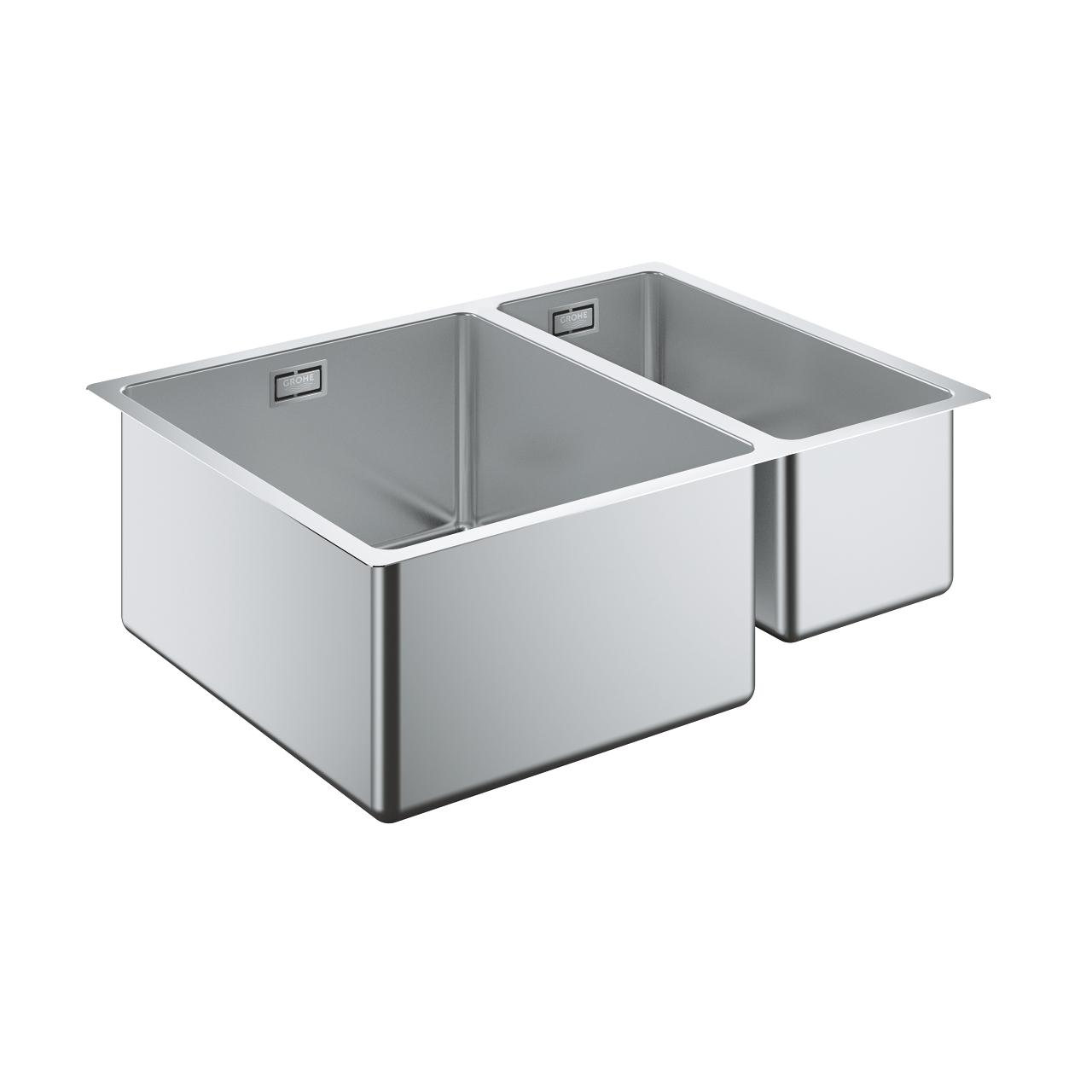 Фото - Кухонная мойка Grohe K700U 31577SD060-S 58,5/44 1.5 из нержавеющей стали, 1,5 чаши, основная чаша слева, монтаж под столешницу