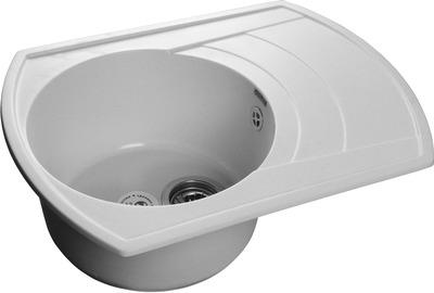Фото - Кухонная мойка GranFest RONDO GF-R650L чаша с крылом  650*500мм  белый