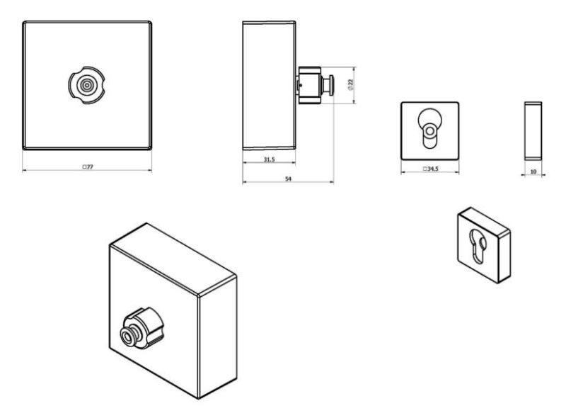 Сушка Black&White SN-0295 для одежды (80х80х60), max выдвижение 250 см, фото