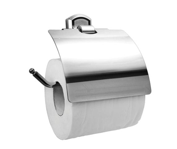 Держатель туалетной бумаги WasserKRAFT Oder K-3025 с крышкой металл, хромоникелевое покрытие, фото