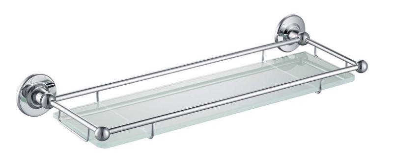 Полка в ванну стеклянная Timo Nelson 150072/00 chrome, фото