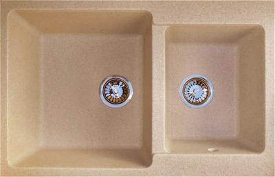 Фото - Кухонная мойка GranFest PRACTIC GF-P780K  2 чаши 780*510 мм  песочный