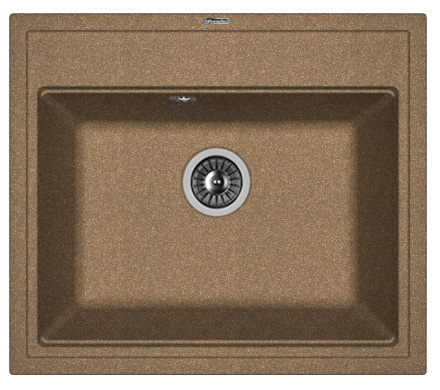 Фото - Кухонная мойка FLORENTINA Липси 600, коричневый FG (20.120.D0600.105)