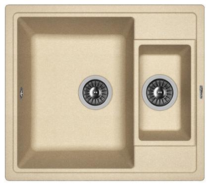 Фото - Кухонная мойка FLORENTINA Липси 580К, бежевый FG (20.210.D0580.104)