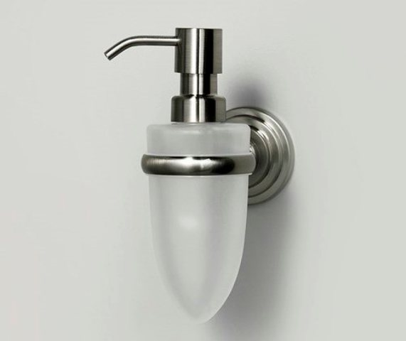 Дозатор для жидкого мыла WasserKRAFT Ammer K-7099, 160 ml металл, покрытие матовый хром, матовое стекло, фото