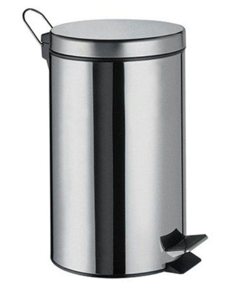 Фото - Ведро WasserKRAFT K-635 5 л хромоникелевое покрытие, нержавеющая сталь, ABS - пластик