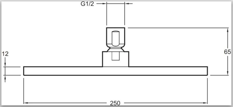 Фото - Душ верхний Jacob Delafon KATALYST E13696-CP квадрат 25х25 (хром)