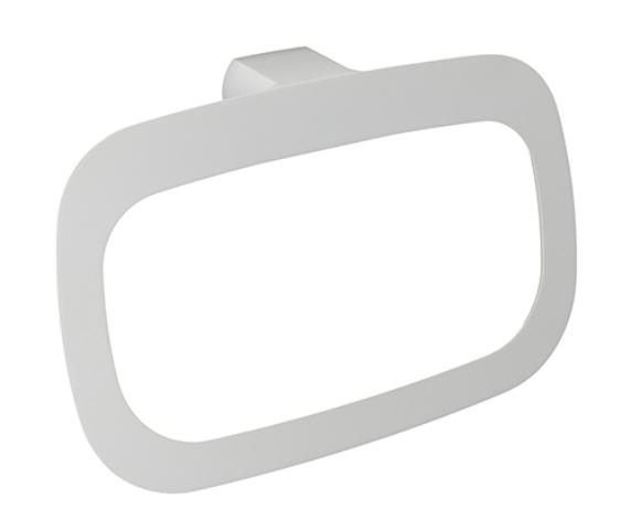 Держатель полотенец WasserKRAFT Kammel K-8360 White кольцо металл, белая порошковая краска, фото