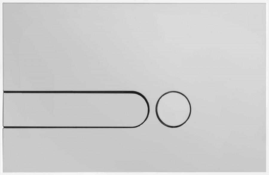Фото - Панель для двойного смыва Jacob Delafon E4326-00 для подвесного унитаза (белая)