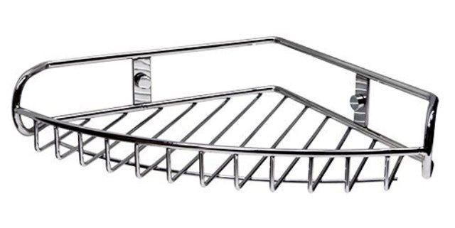 Полка WasserKRAFT K-1211 металлическая угловая нержавеющая сталь AISI 304, хромоникелевое покрытие, фото