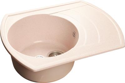 Фото - Кухонная мойка GranFest RONDO GF-R650L чаша с крылом  650*500мм  бежевый