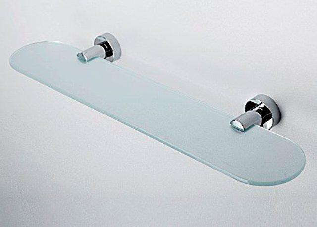 Полка WasserKRAFT Donau K-9424 стеклянная металл, хромоникелевое покрытие, закаленное матовое стекло, фото