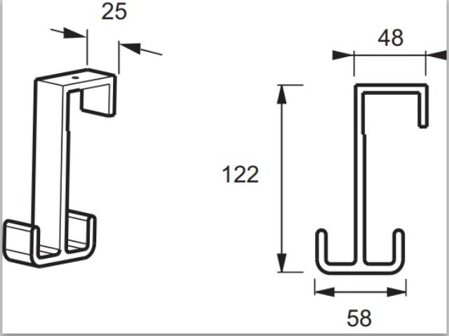 Крючок Jacob Delafon NOUVELLE E9405-BLV двойной для ванной комнаты (черный), фото