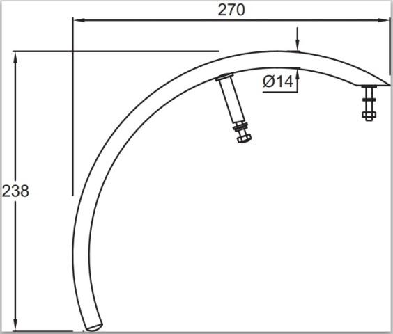 Полотенцедержатель Jacob Delafon ESCALE E75638-CP для рукомойника (хром), фото