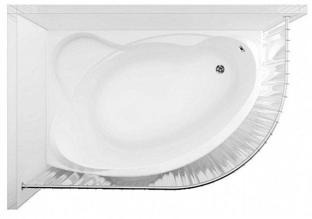 Фото - Карниз для ванны дуга нерж.ст. (Aquanet Jamaica 1600*1000) (152670)