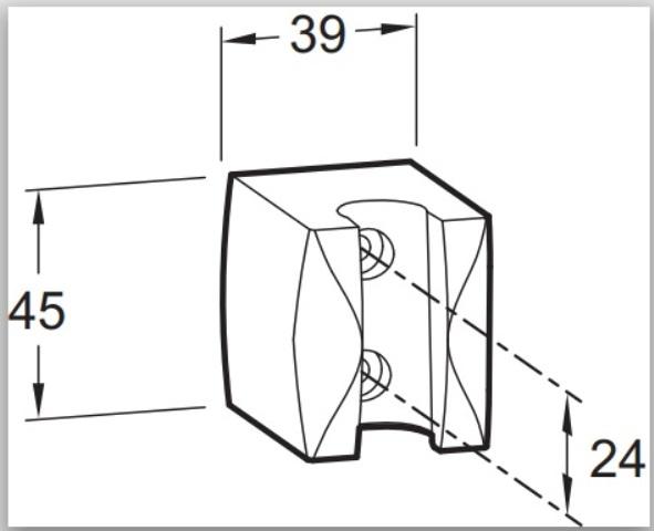 Фото - Держатель Jacob Delafon E75063-CP ECO/BASIC душ настенный фиксированный (хром)