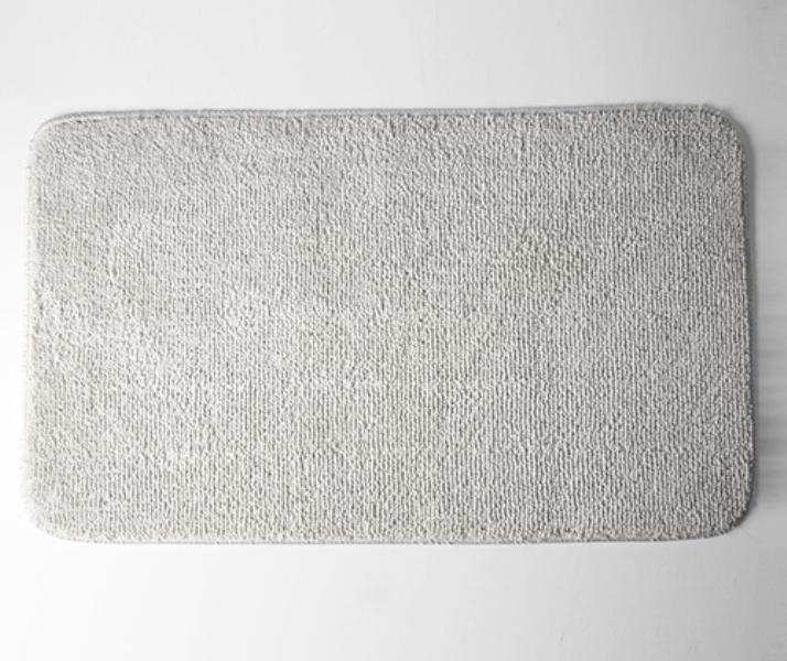 Коврик WasserKRAFT Vils BM-1021 Smoke для ванной комнаты 75х45 см микрофибра, фото