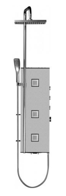 Фото - Душевая панель Jacob Delafon WATERLINE TOWER 03 E3872-185 (мат.алюм)