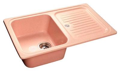 Фото - Кухонная мойка GranFest STANDART GF-S780L  чаша с крылом 780*500 мм  светло-розовый