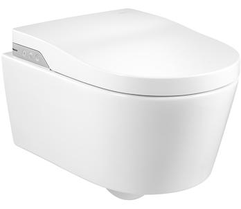 Фото - Унитаз подвесной Roca IN-WASH INSPIRA 803060001 сиденье дюропл., пульт в компл./39х56,2/(белый)